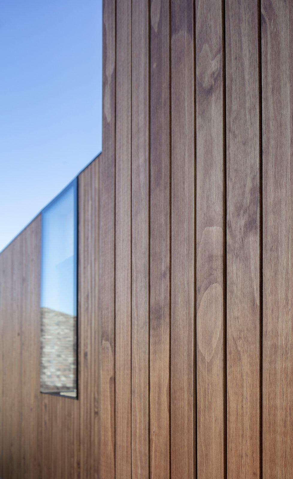 Exterior, Metal Roof Material, Concrete Siding Material, Flat RoofLine, Wood Siding Material, and House Building Type  Virginia House