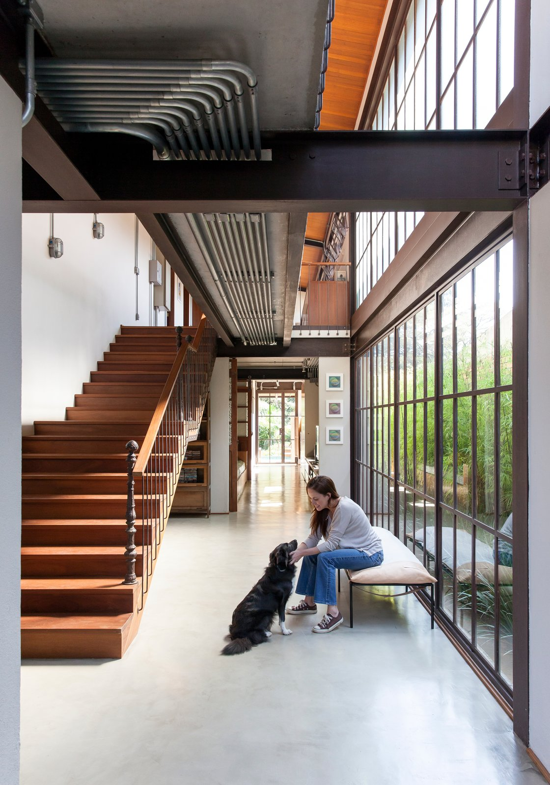 Staircase, Metal Tread, and Wood Railing  Best Photos from Conde D'eu House