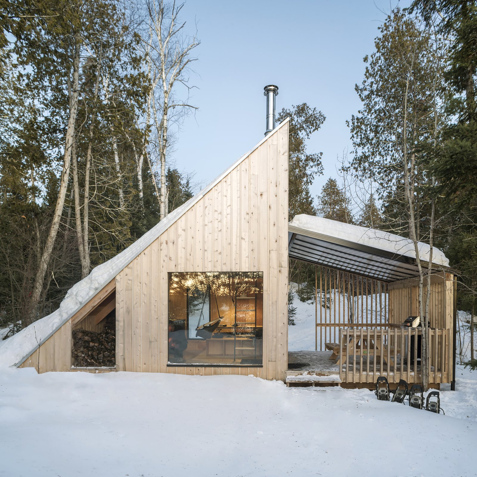 Exterior, Cabin Building Type, Metal Roof Material, and Wood Siding Material  La Pointe by L'Abri