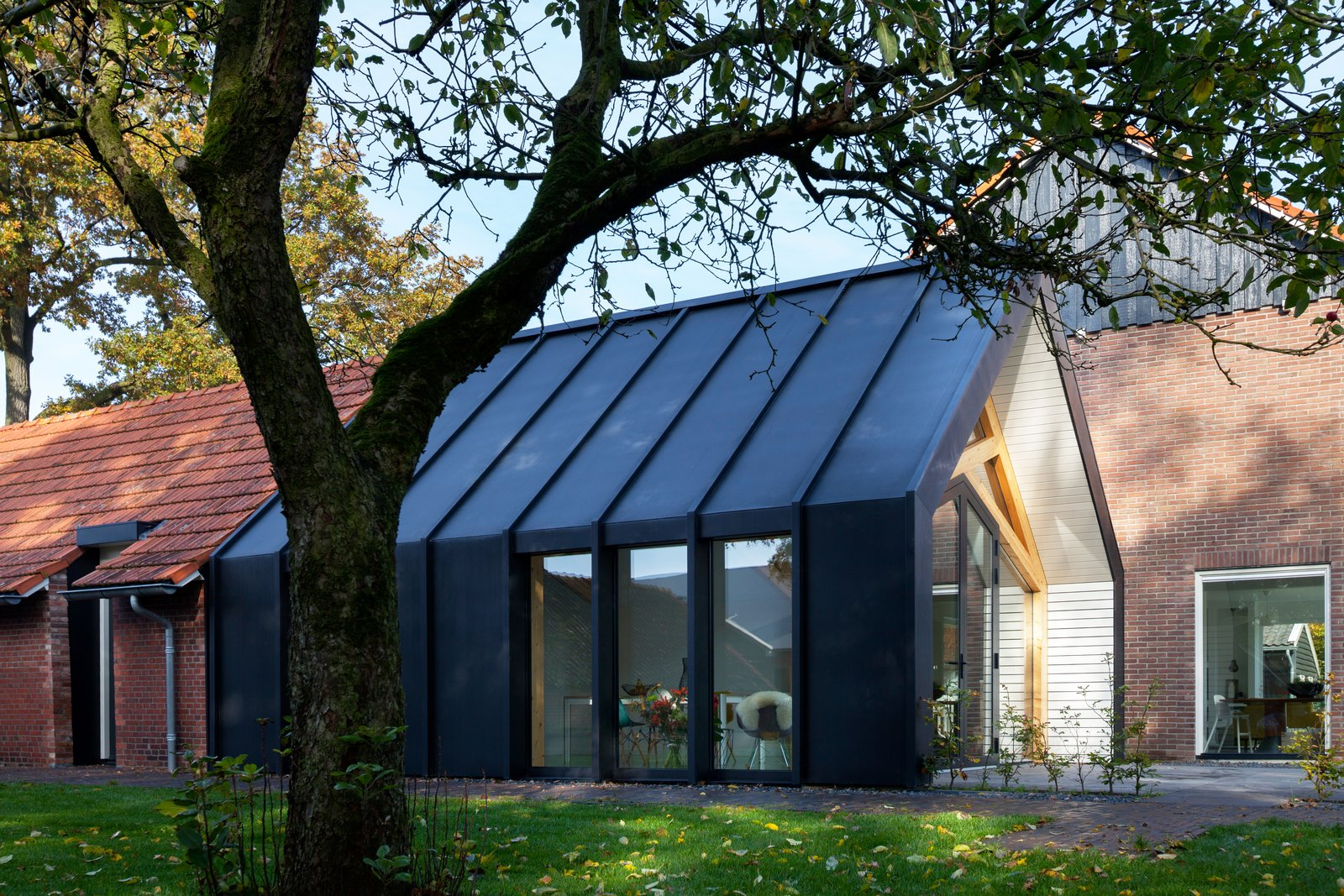 Exterior, Metal Roof Material, House Building Type, and Gable RoofLine  Barn Living