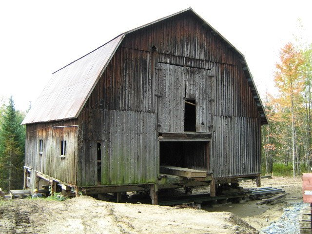 Exterior, Metal Roof Material, Wood Siding Material, Gambrel RoofLine, and Farmhouse Building Type  The Barn