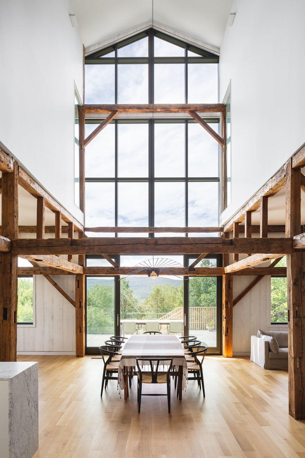 Dining Room, Table, Chair, Pendant Lighting, and Medium Hardwood Floor  Photos from The Barn
