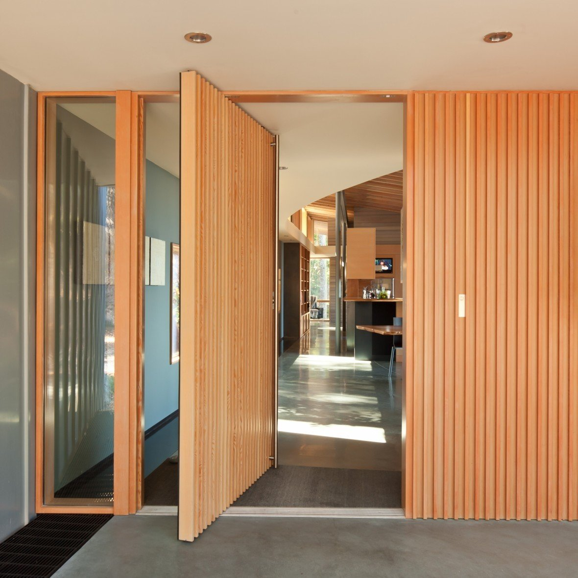 Doors, Swing Door Type, Wood, and Exterior  Suncrest Residence by Heliotrope Architects