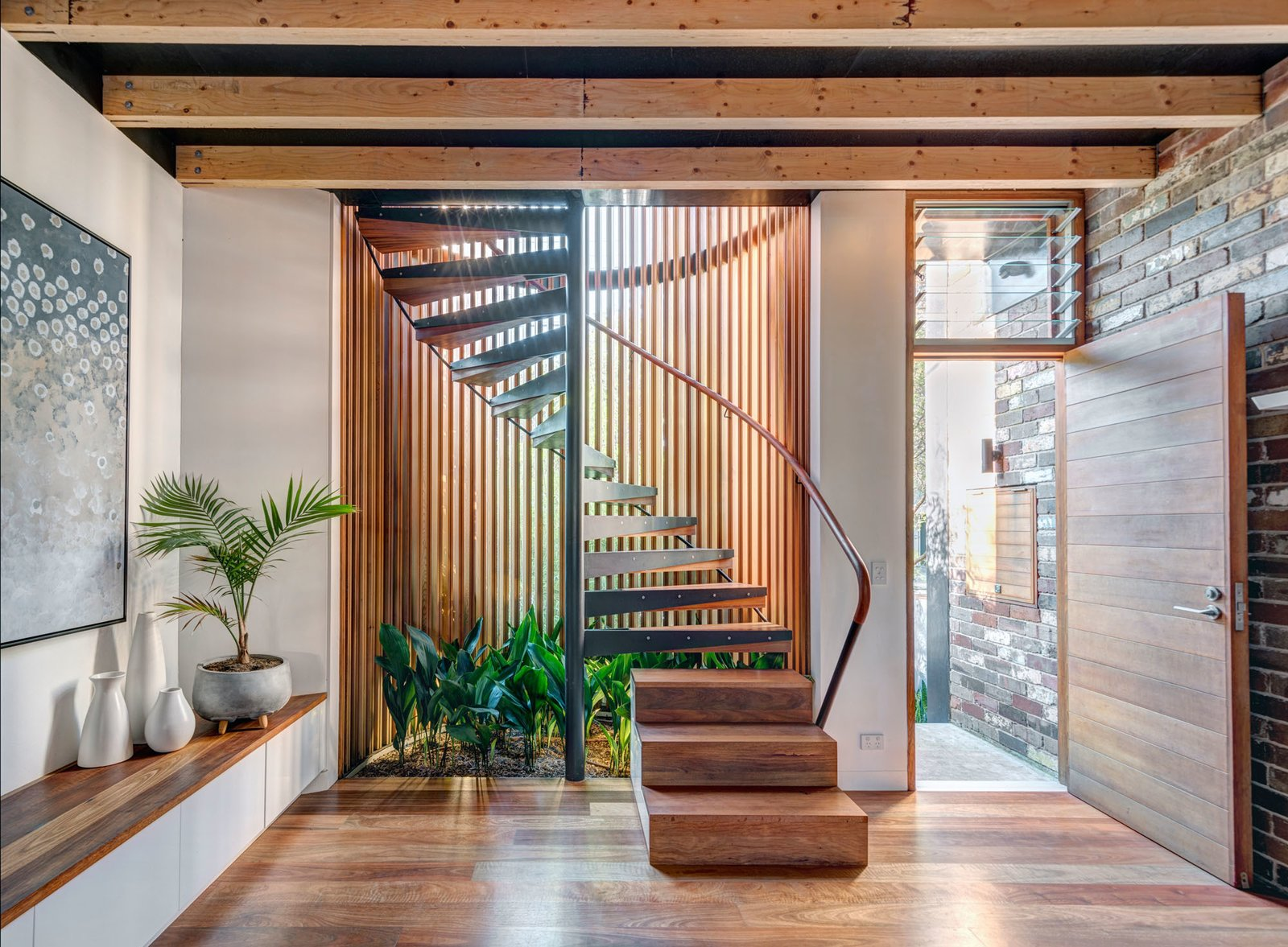 Staircase, Wood, Metal, and Wood  Staircase Wood Metal Photos from Aquas Perma Solar firma
