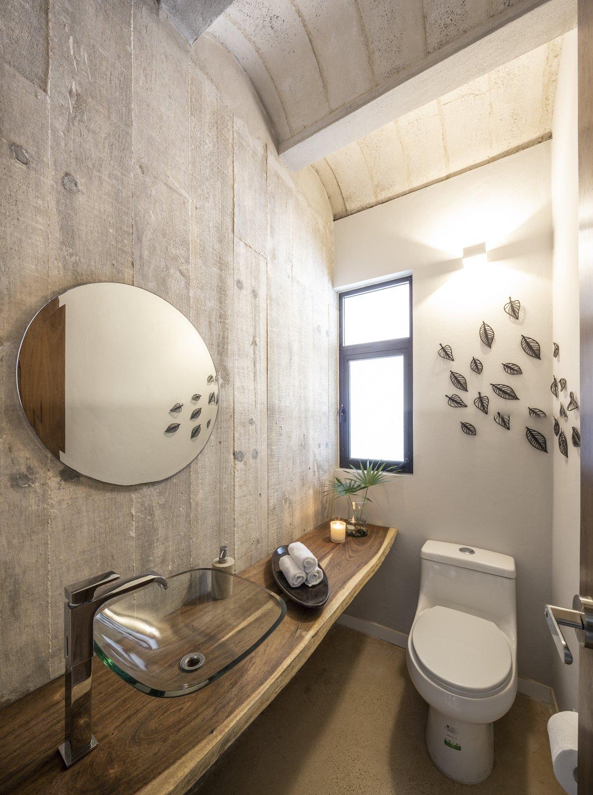 Bath, Wood, One Piece, Concrete, Concrete, Vessel, and Wall  Bath Concrete Concrete Wood Photos from PDC House