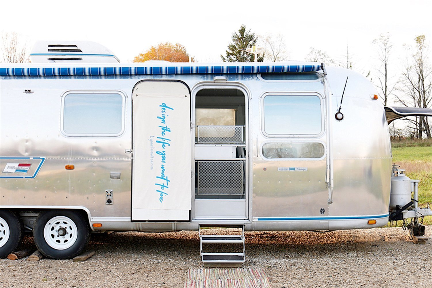 1976 Airstream Renovation by Lynne Knowlton exterior