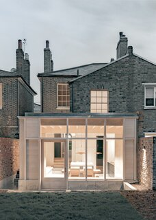 A Victorian Terrace House in London Gets a Bright, Brutalist-Inspired Rear Addition