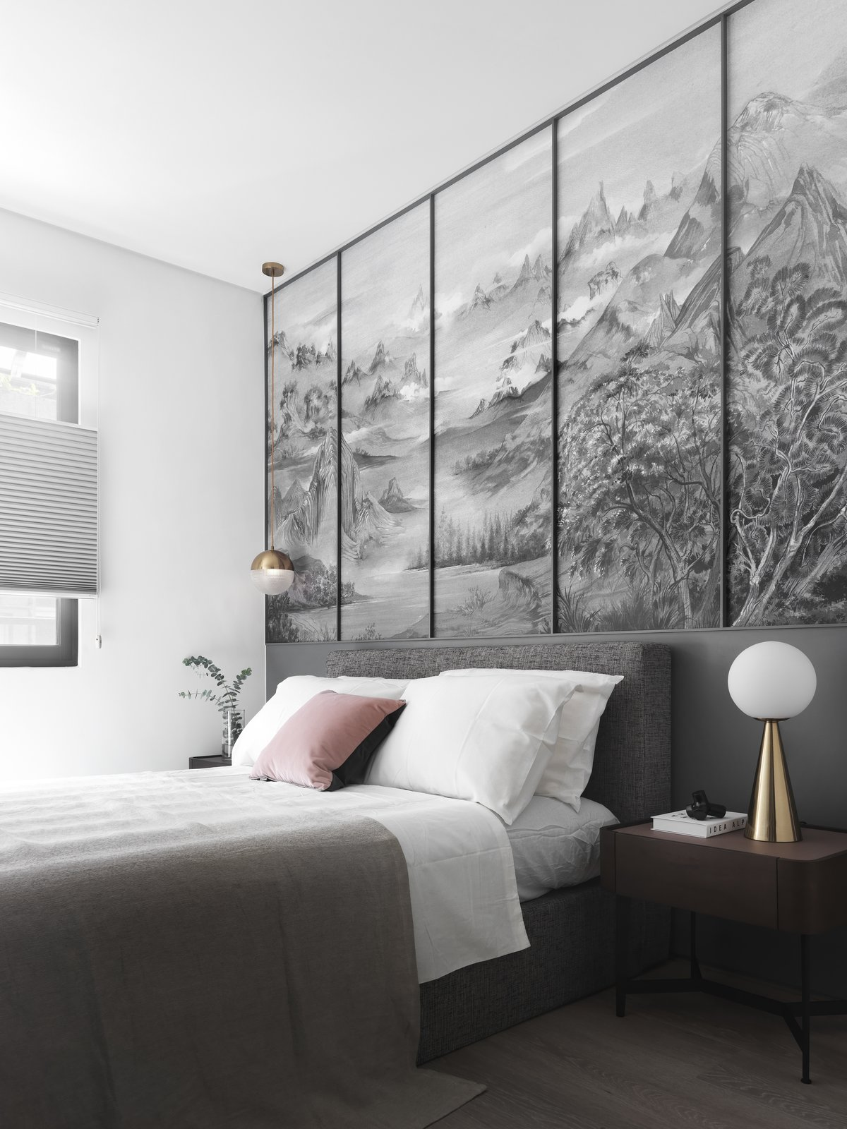 Bedroom, Ceiling Lighting, Light Hardwood Floor, and Bed  The Invisible Order of Daily Life