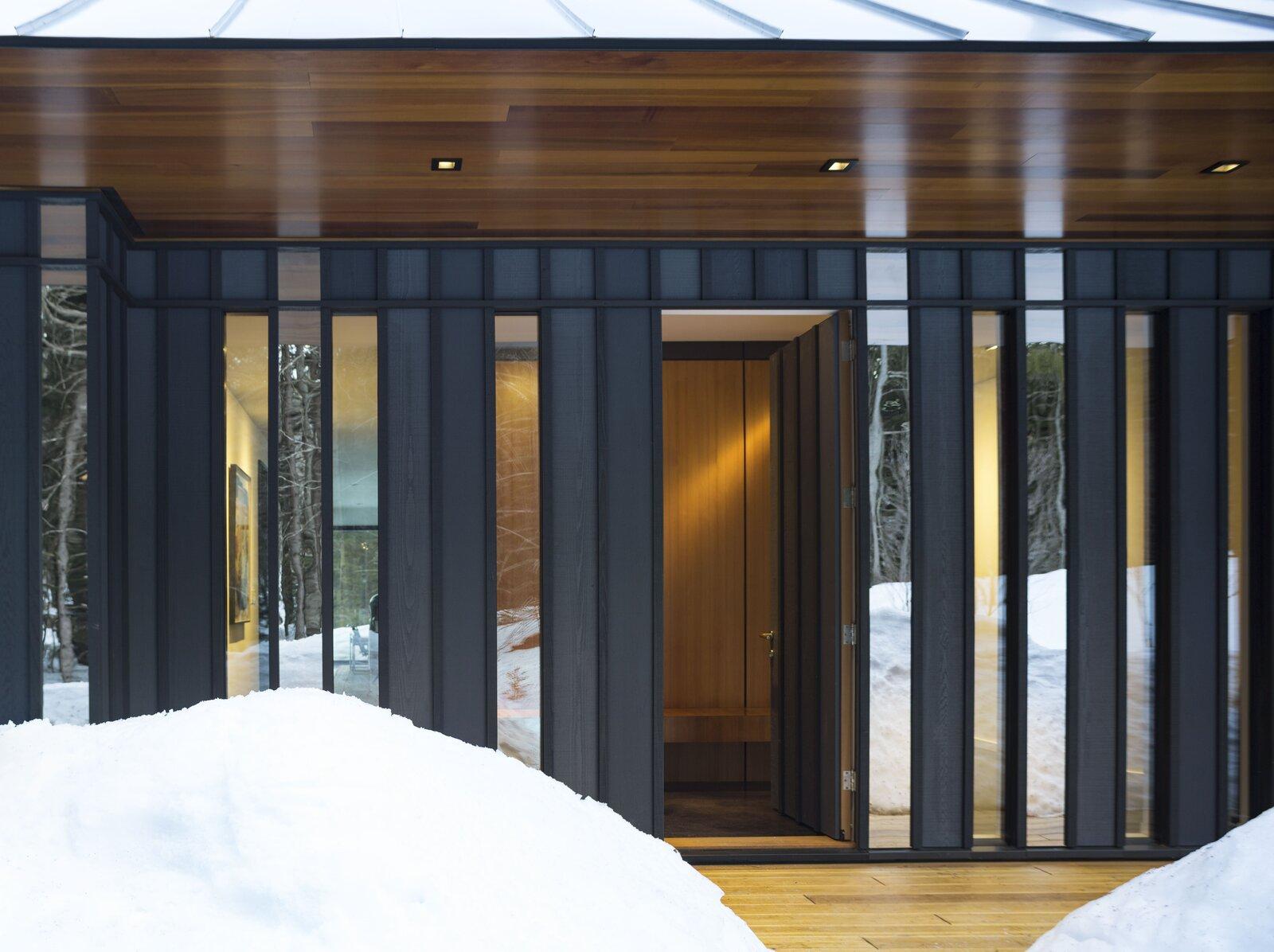 Doors, Exterior, Swing Door Type, and Wood  Board & Batten by Birdseye