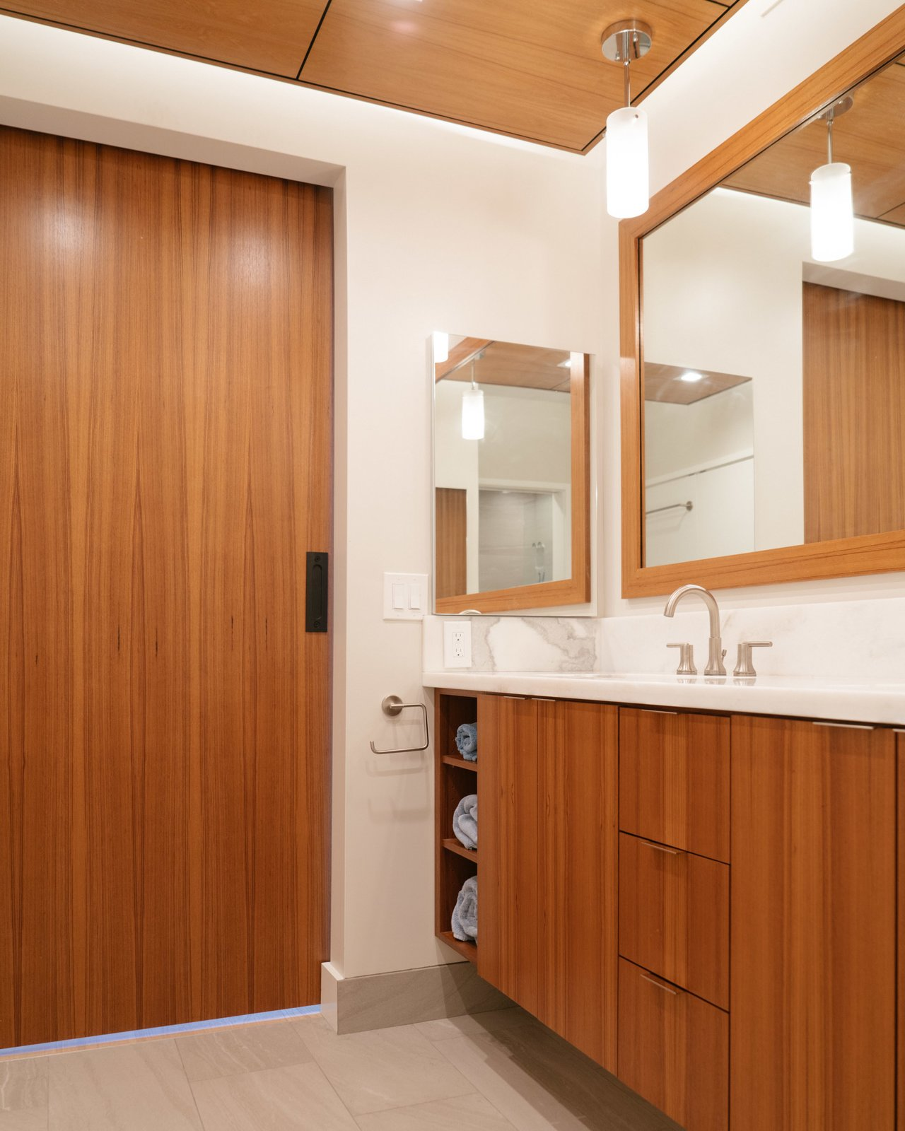 Bath Room, Undermount Sink, Granite Counter, and Ceramic Tile Floor  Scott Residence by District Architecture + Design
