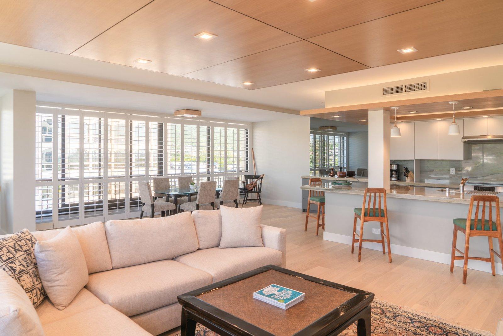 Living Room, Ceiling Lighting, Accent Lighting, Recessed Lighting, Light Hardwood Floor, and Pendant Lighting  Scott Residence by District Architecture + Design