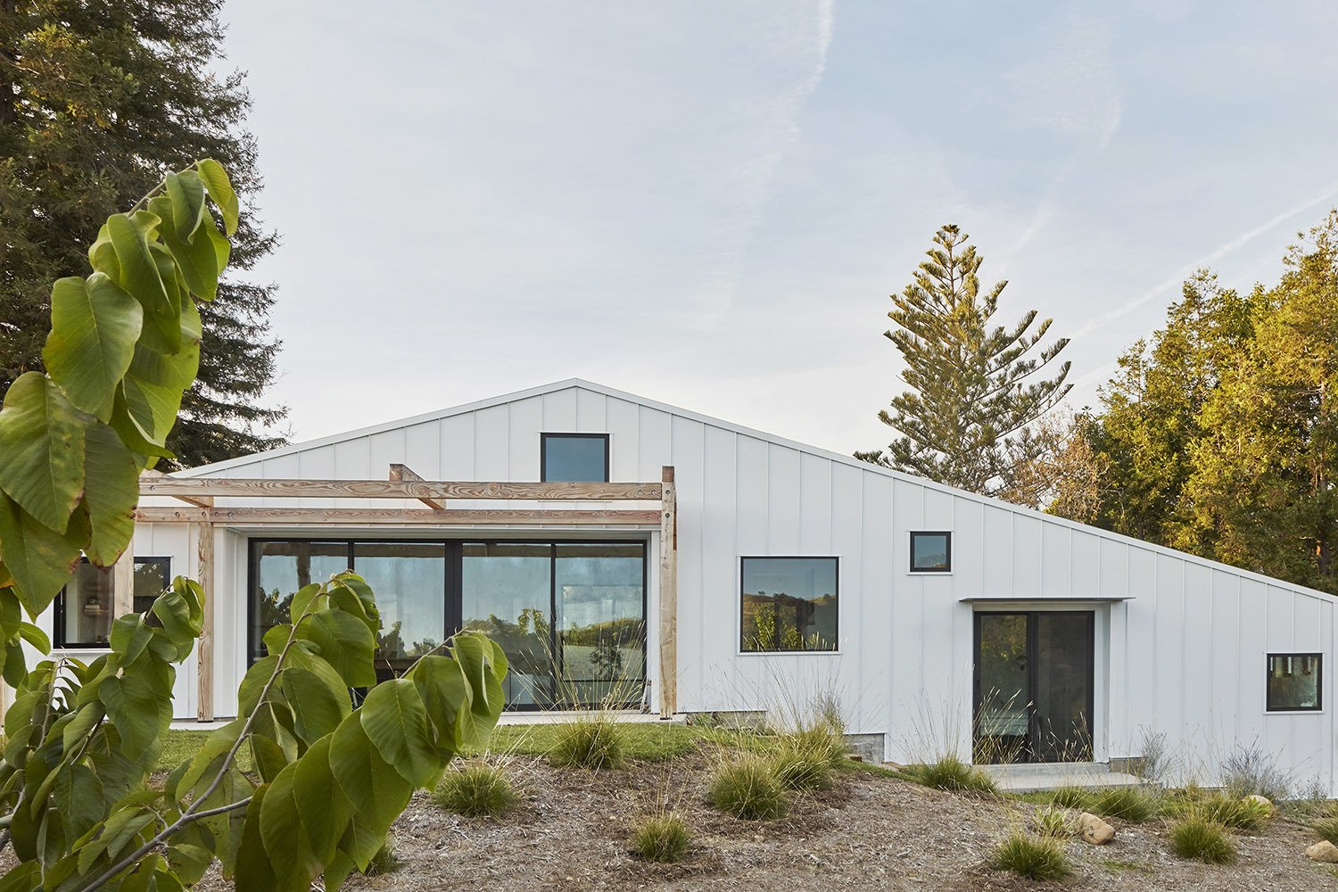 Exterior, House Building Type, Metal Roof Material, Gable RoofLine, and Metal Siding Material  Shepard Mesa House