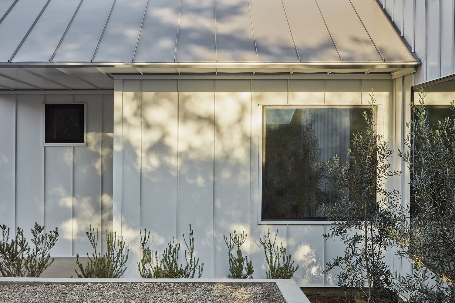 Exterior, Gable RoofLine, Metal Siding Material, House Building Type, and Metal Roof Material  Shepard Mesa House