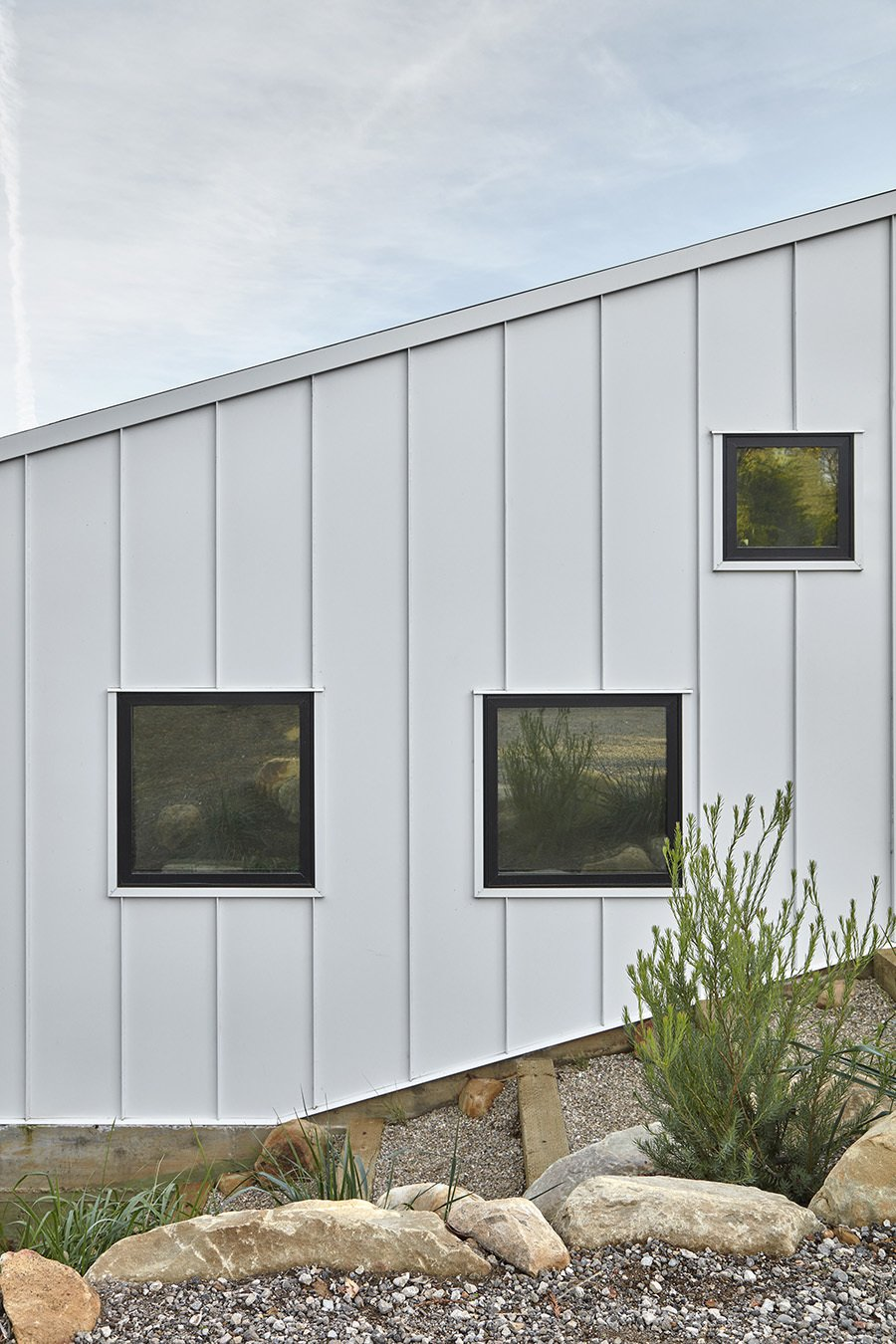 Exterior, Metal Roof Material, Gable RoofLine, Metal Siding Material, and House Building Type  Shepard Mesa House