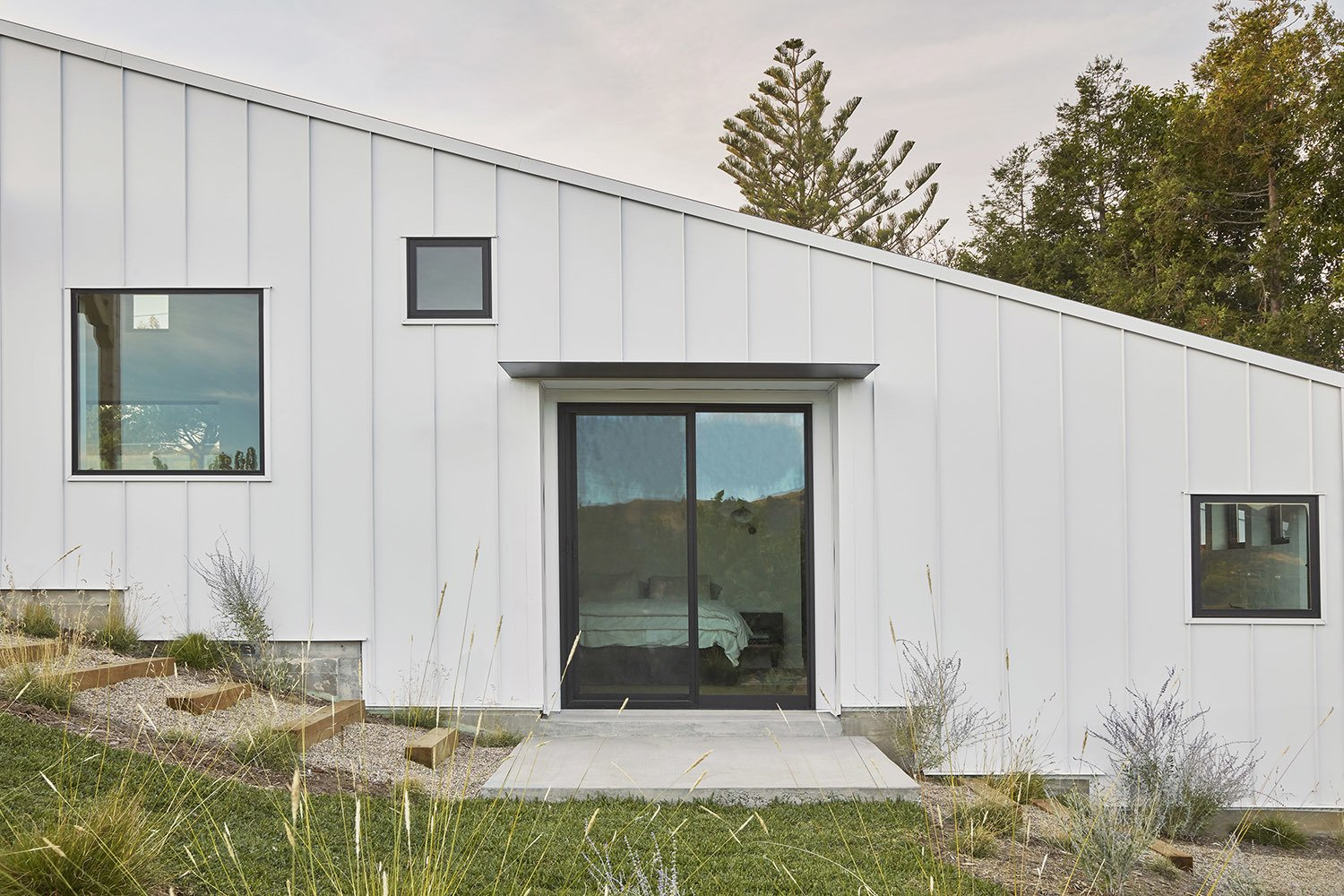 Exterior, Metal Siding Material, House Building Type, Gable RoofLine, and Metal Roof Material  Shepard Mesa House
