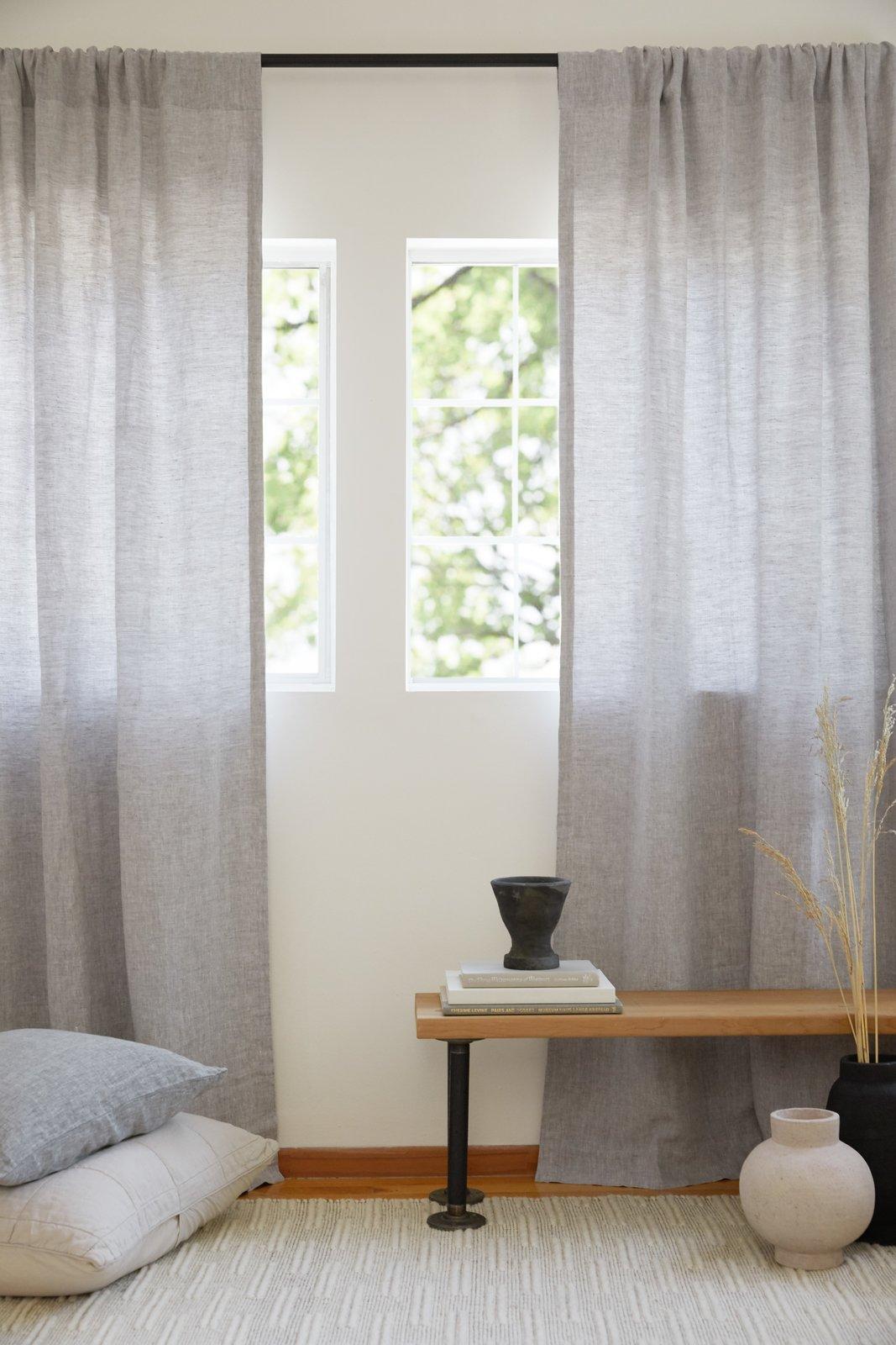Parachute chambray gray curtains