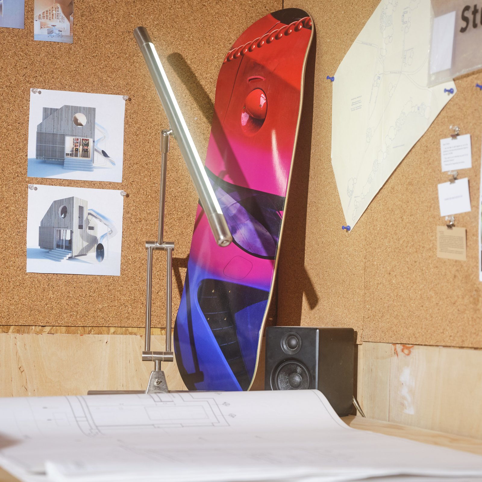 """Photo 5 of 11 in Designer Jerome Byron's Raw-Edged """"Quarantine Quarters"""" Feel Like a '90s Office Gone Rogue"""
