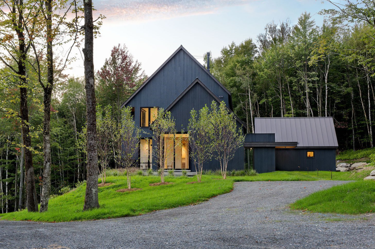 Exterior, House Building Type, Wood Siding Material, Metal Roof Material, and Gable RoofLine  Elemental House by Elizabeth Herrmann Architecture + Design