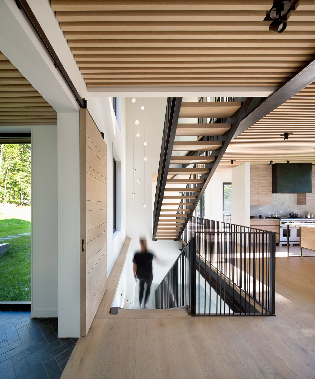 Staircase, Wood Tread, and Metal Railing  Elemental House by Elizabeth Herrmann Architecture + Design