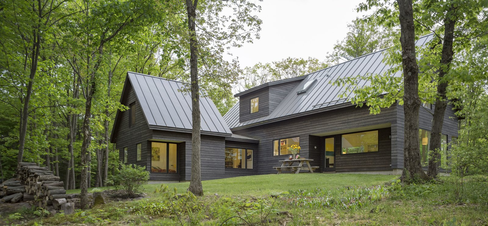 Exterior, House Building Type, Wood Siding Material, Metal Roof Material, and Gable RoofLine  Knoll House by Elizabeth Herrmann Architecture + Design