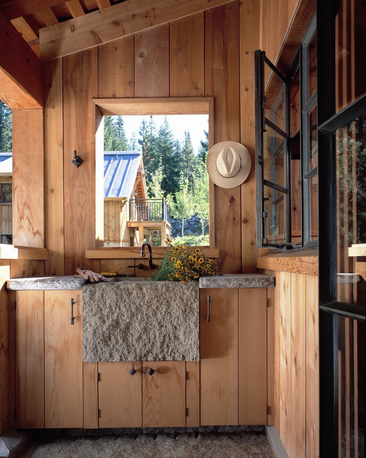 Outdoor  Photo 6 of 11 in A Rustic Home Rivals the Rugged Beauty of Its Forest Setting