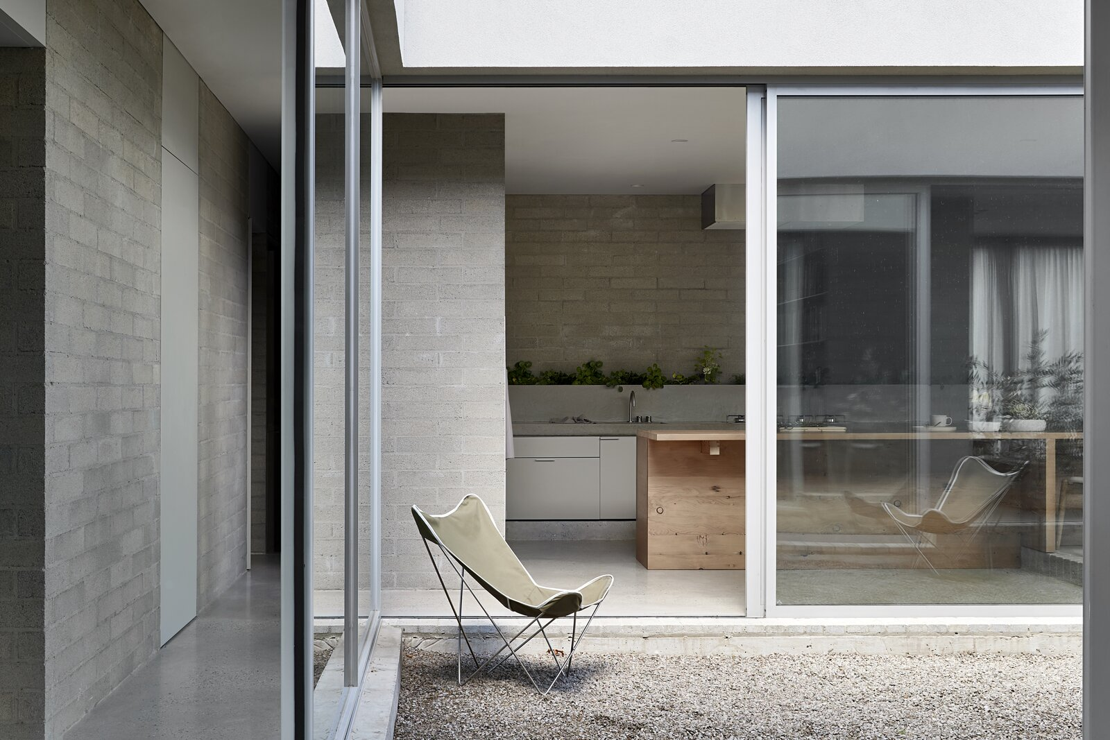 Windows, Picture Window Type, and Sliding Window Type  Photo 6 of 20 in A Concrete House Is Softened by an Airy Internal Courtyard, Complete With an Olive Grove from Ruxton Rise Residence