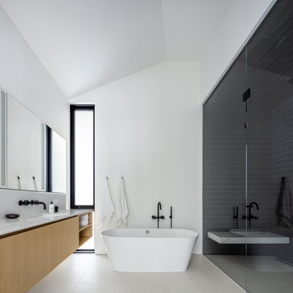 Best 60 Modern Bathroom Porcelain Tile Floors Design Photos And Ideas Dwell