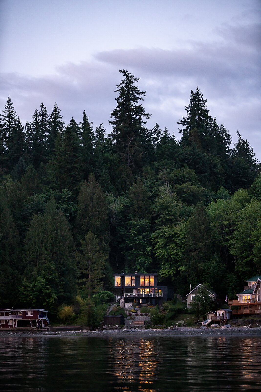 Outdoor and Trees  Photo 5 of 13 in A Waterfront Home in Washington Grows Two Hovering Wings