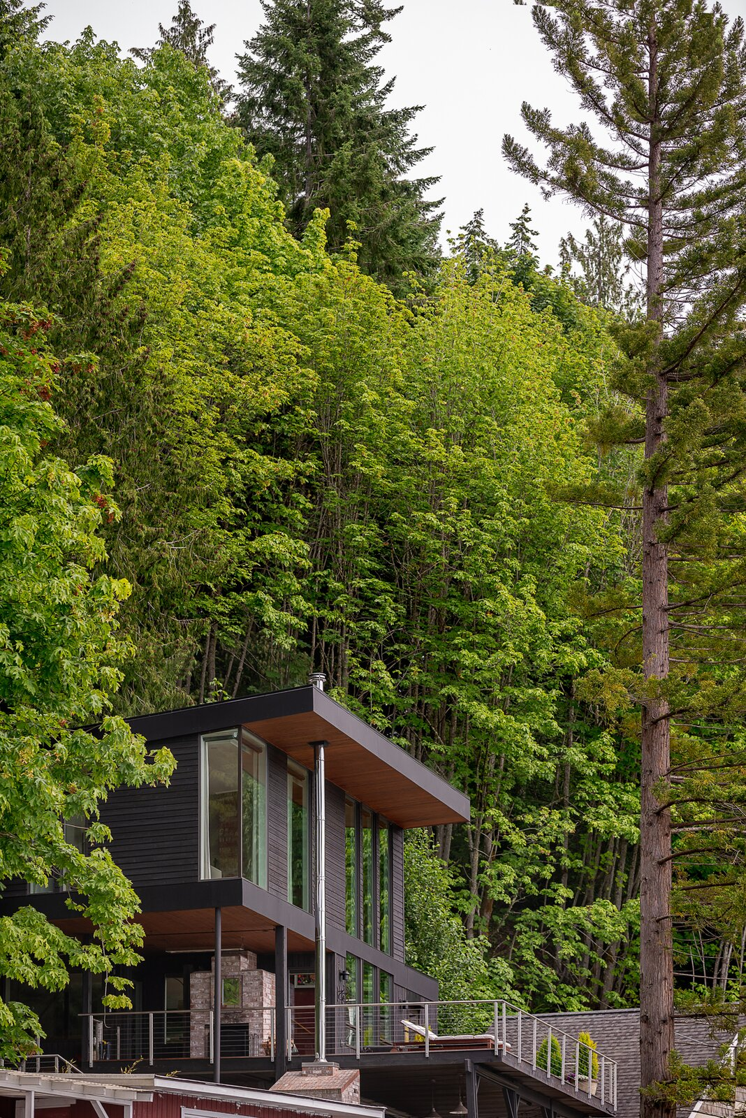 Exterior and House Building Type  Photo 2 of 13 in A Waterfront Home in Washington Grows Two Hovering Wings