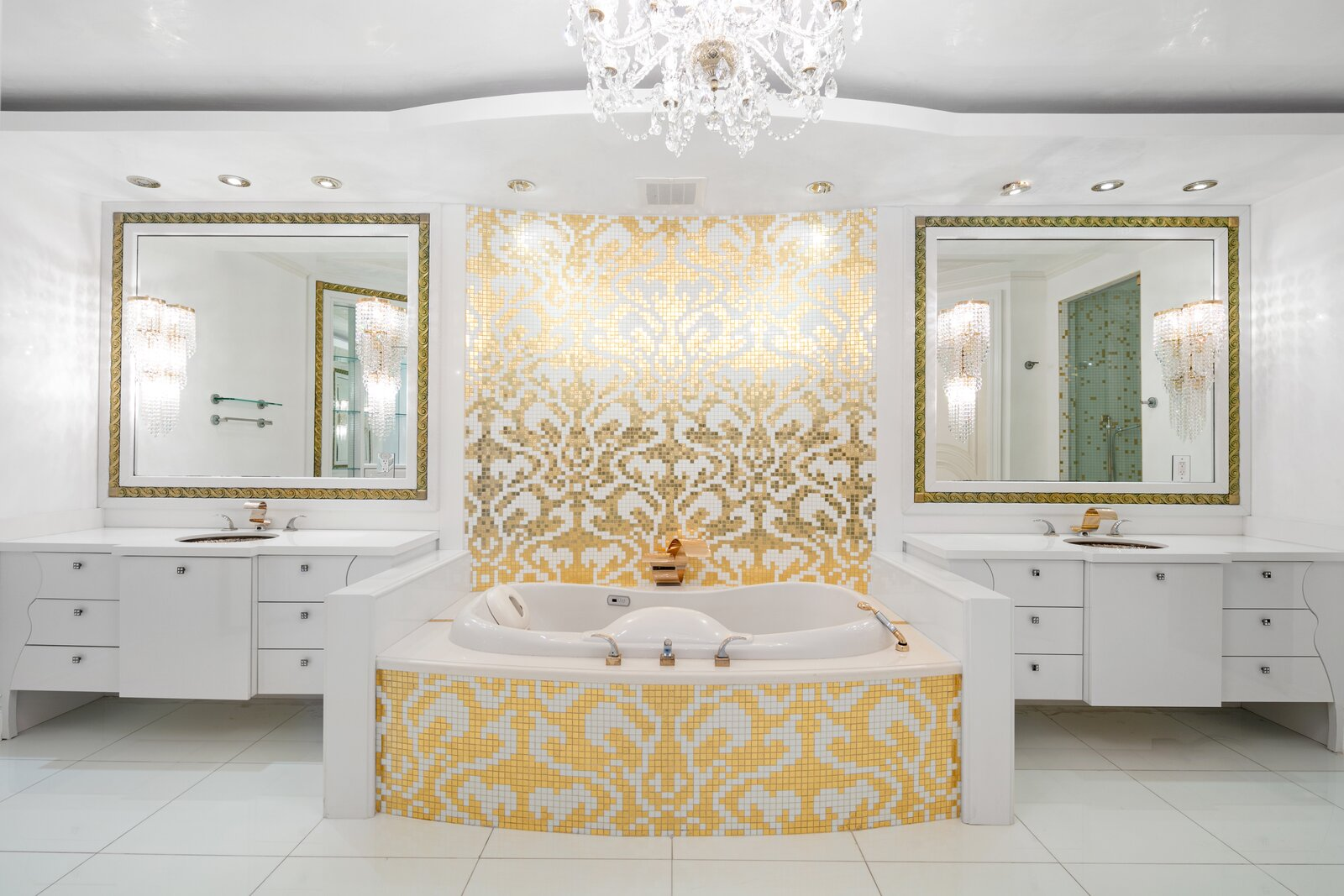 Gilded Palace in the Sky Features Gold Bathroom, Fendi Accents and Panoramic Ocean Views