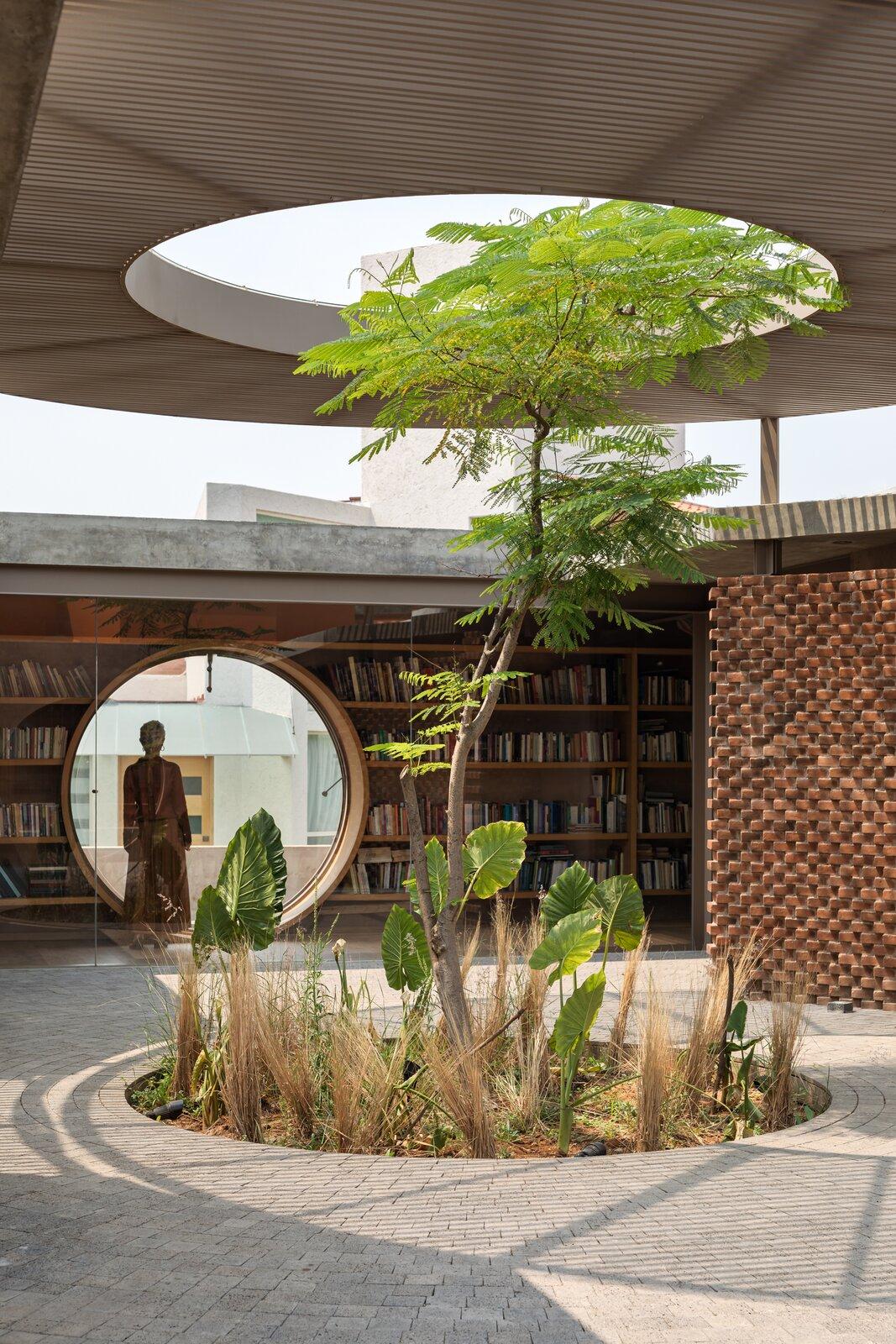 UC House by Daniela Bucio Sistos library and foyer