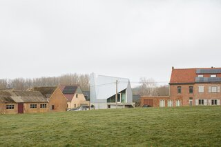 A Striking Home in the Flemish Countryside Cuts an Otherworldly Silhouette