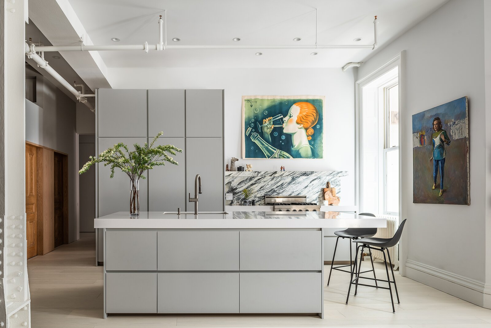 Kitchen of Broadway Loft by Worrell Yeung